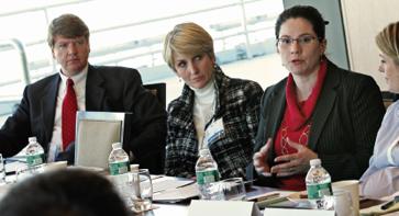 Tony Kingsbury <i>Dow Chemical</i>, Beth Schmitt <i>Alcoa</i>, Talya Bosch <i>Western Union</i>