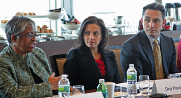 Roslyn Dickerson <i>IHG</i>, Dina Powell <i>Goldman Sachs</i>, Ezra Garrett <i>PG&E</i>