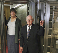 ShoreBank Co-founders Mary Houghton and Ronald Grzywinski say the bank democratized the availability of credit.(Photograph by Stacie Freudenberg/ AP)
