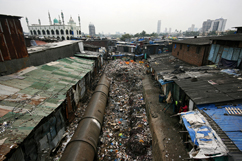 Dharavi, landfill or residence? Slum where San+Co conducted enthographic research. (Photo by Somdutta Biswas).