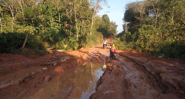 Roads in Tumbang Titi sub-district Kalimantan. (All photos by Marc Henrich)