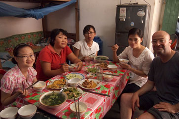 Lunch at the TC office in Duc Linh in Binh Thuan province. (All photos by Marc Henrich)