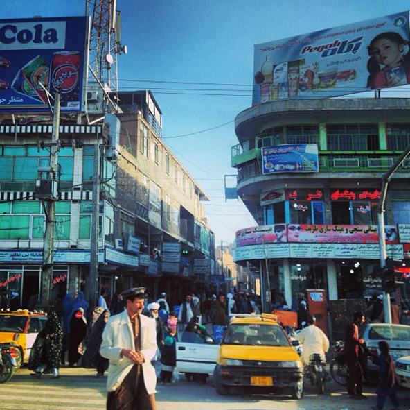 A bustling marketplace in Herat, Afghanistan. Stanford Social Innovation Review.